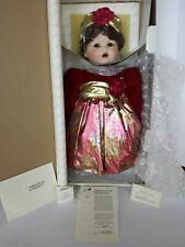 NEW NRFB MARIE OSMOND JESSICA'S FIRST CHRISTMAS PORCELAIN DOLL COA #2631