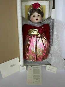 NEW NRFB MARIE OSMOND JESSICA'S FIRST CHRISTMAS PORCELAIN DOLL COA #2631