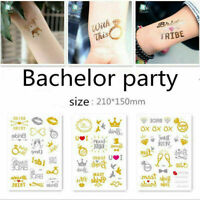 DIY Bride Tribe Flash Temporary Tattoo Sticker Bridal Party Wedding Decor