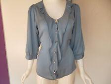 Fornarina San Francisco-Chambrais Shirt Bluse hellblau Gr. S