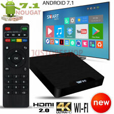 2018 NEW Quad Core Android 7.1 Nougat TV Box 17.6 HDMI Pro Media Player Streamer