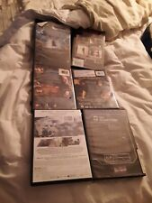 Set of 6 Preowned Empty, Standard-Thickness, Black DVD Cases Boxes Sleeves Cover