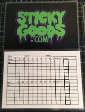 Disc Golf Scorecard Score Sheet - Reusable - Sticky Goods Score Card - Golf