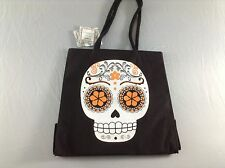 Day Of The Dead/ Dia De Los Muertos Sugar Skull Marlo Lorenz Canvas Tote - NEW