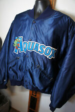 Vintage Players MLB Everett AquaSox Rawlings Satin Vtg Dugout Jacket Coat    o77