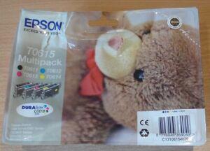 GENUINE EPSON T0615 TO615 Multipack ORIGINAL TEDDY BEAR ink cartridges date 2021