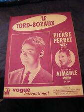 torsione di partizione tubi amichevole Pierre Perret Music Sheet 1963