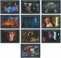 2012 Topps Star Wars Galactic Files Series 1 Classic Lines 1-10 Card Set