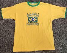 Brasil New Mens Yellow Green Brasil Soccer Shirt Xl Nacao De Deus Brazil