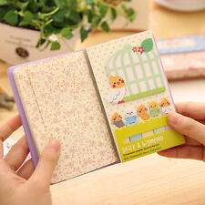 Kawaii Animal Cat Panda Sticky Notes Memo Pad School Supplies Planner Bookmarks