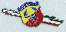 CLASSIC FIAT ABARTH SIDE LOGO EMBLEM ITALIAN FLAG METAL BADGE BRAND NEW