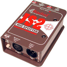 Radial Js-2 Two-Way Microphone Signal Splitter Js2 R800 1022 Direct Box New!
