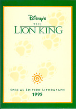 Disney's The Lion King Special Edition Lithograph ca. 1995