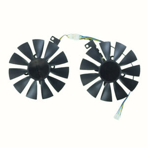 2PCS Graphic Card Cooling Fan For ASUS DUAL GeForce GTX1070-O8G FDC10U12D9-C