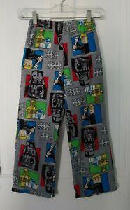 Lego Star Wars 8 flannel pajama pants Gray blue green Hans Solo R2D2 Darth Vader