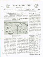 Daniel Boone - Postal Bulletin announcement (3922)