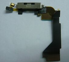 Black Charging Port Dock Connector Flex Ribbon Cable Replacement For iPhone 4 4G