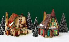"Alpine Shops set of 2 #56189 Dept 56: ""Metterniche Wurst"" and ""Kukuck Uhren"""