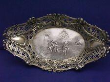 Antique Silver european ornate bowl rams head wreath estate Not Scrap