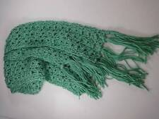 """Sea Green Hand Craft Made Knit Scarf Long 96"""""""