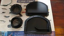 TRAILER SIDE WALL AIR VENTS - BLACK 2 inner 2 outer FREE FAST SHIPPING flow