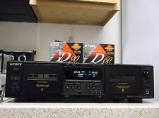 Refurbished Sony TC-W475 Stereo Dual Cassette Dolby B & C NR High Density Deck
