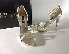 White House Black Market 9.5 Gold Metallic High Heels Shoes Stilettos New $130