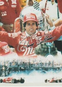 """1995 Danny Sullivan Miller """"Spin To Win"""" Indy 500 Win Ford Indy Car postcard"""