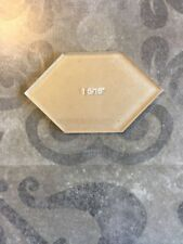 """Elongated Hexagon Acrylic Cutting Template for 1"""" paper shape by All Quilty"""