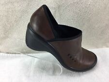 Women's Clark's Pr!vo Shoes Clogs Mules Brown Leather Uppers 7 1/2M 76001
