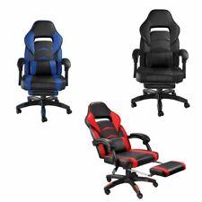 Chaise Gaming Confortable Fauteuil Bureau Ergonomique Réglable Repose Pied