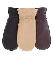 Pratt & Hart Snowfall Women's Deerskin Leather Mittens with Finger Liners
