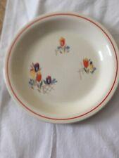"Rare Kitchen Kraft Oven Serve 9-1/2"" Pie Plate Tulips Flowers Homer Laughlin"