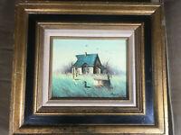 "Morris ""Cottage And Landscape Scene"" Oil Painting - Signed And Framed"