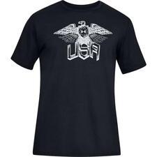 Under Armour 1327549 Men's LARGE T-Shirt UA Freedom Eagle Black | Gray Patriotic