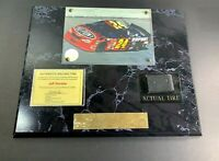 Jeff Gordon Photo #24 PLAQUE with Race Car with Authentic Race Tire Section