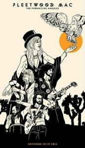 Fleetwood Mac CONCERT  METAL TIN SIGN POSTER WALL PLAQUE