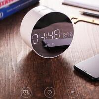 Portable LED Bluetooth Speaker with FM Radio Alarm Clock USB TF AUX MP3 Player