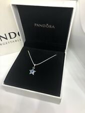 Beautiful 90cm Necklace, Blue Shinning Star Pendant With Pandora Box & Giftbag