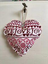 EMMA BRIDGEWATER FABRIC HEART LOVE FABRIC HANGING DECORATION HOME