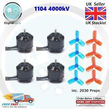 4x 1104 4000KV 2-3S Brushless Motor + 2030 Propellers - 1105 1106 DYS F3 F4