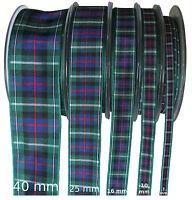 MacKenzie Tartan Ribbon - various widths, cut lengths and 25m reels