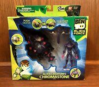 Alien Creatures Chromastone Vintage Bandai Ben 10 Action Figure Set New NIB