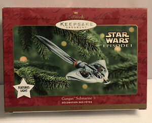 Hallmark Keepsake Star Wars Episode 1 Gungan Submarine Ornament Lighted New