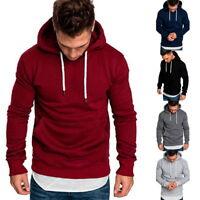 Herren Kapuzepullover Langarm Sweatshirt T-Shirt Shirt Sport Pullover Sweater HJ