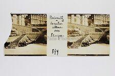 Biarritz Photo Amateur Plaque de verre (cassé) stereo Positif Vintage