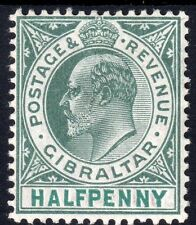 Lightly Hinged Single Gibraltarian Stamps