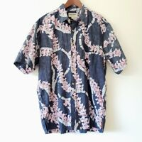 VTG COOKE STREET HONOLULU Hawaiian Camp Shirt Reverse Print Sz XL Short Sleeve