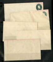 US Stamps Lot of 5 Early Stationery Errors