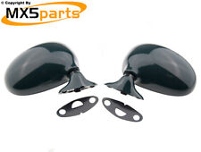 MX5 Manual Door Wing Mirror Set Pair Racing Green HU Mazda MX-5 Mk1 NA 1989>1998